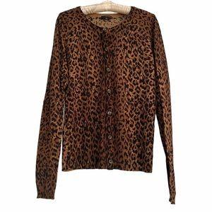 The Limited Cheetah Animal Print Cardigan Medium